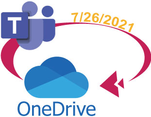 Teams recordings moving to Onedrive logo 7-26-21