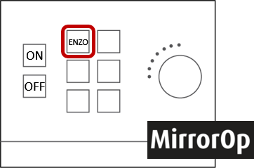 Tap the Enzo button and follow instructions on the screen to wirelessly mirror most* devices to the projector.  Your device must be connected to the SVSUSecure Wi-Fi.