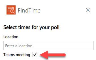 FindTime Teams Online Meeting