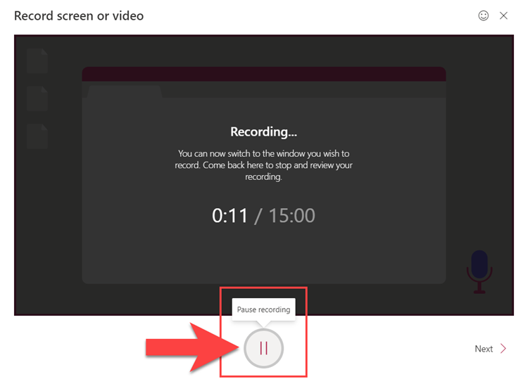 Microsoft Stream Pause your video