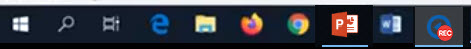 An image: Echo360 Recording Started in the taskbar.