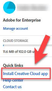 adobe.com Install Creative Cloud app