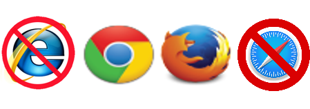 An image: Echo360 browsers