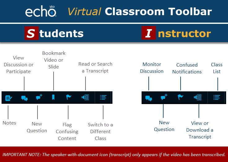 Classroom toolbar