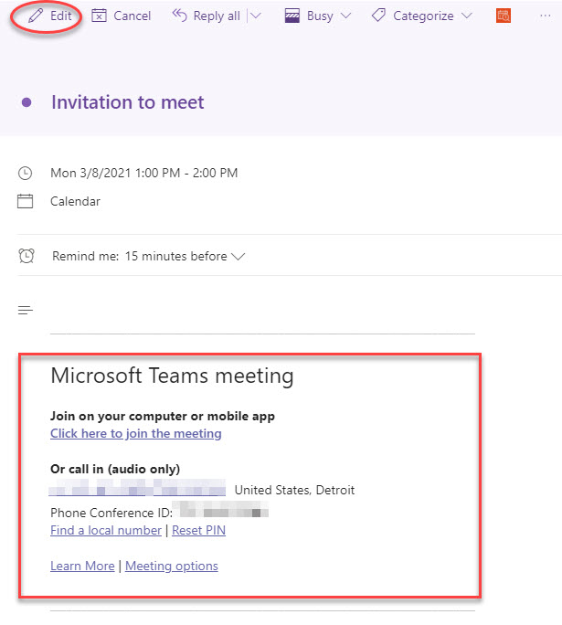 FindTime Teams Meeting Scheduled