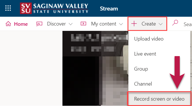 MS Stream create a recording