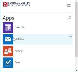 SSPR Registration screen.  A list of office apps.
