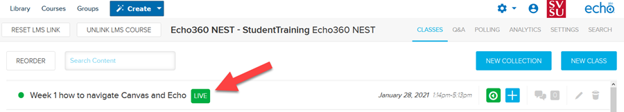 An image: Echo360 Live Class Instructor